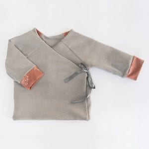 DOUBLE SIDED CARDIGAN PINK GRAY