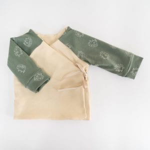 DOUBLE SIDED CARDIGAN GREEN BEIGE