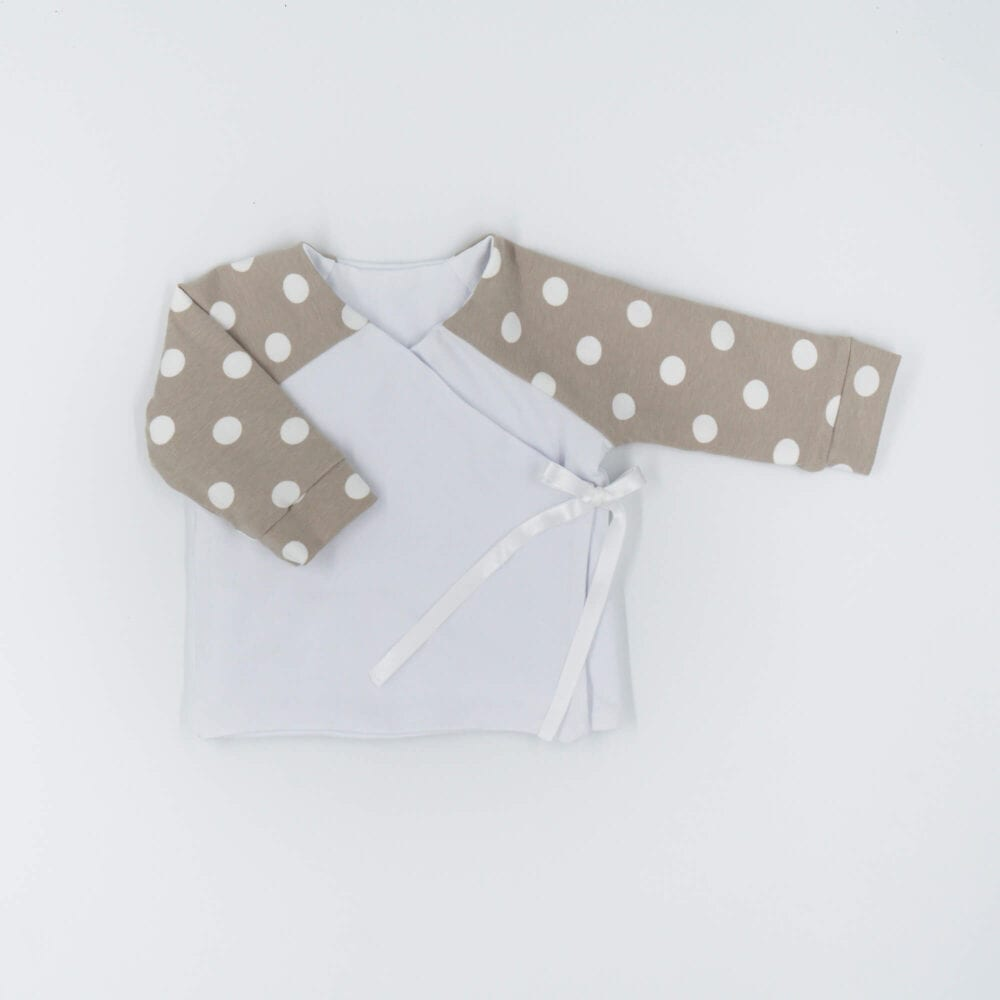 DOUBLE SIDED CARDIGAN BEIGE DOTS