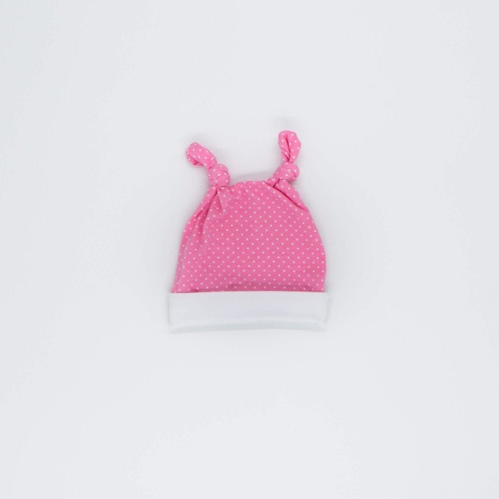 HAT PINK WHITE DOTS