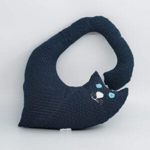 Macja blazina za okoli vratu - modre pike