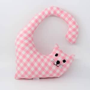 Macja blazina za okoli vratu - roza karo
