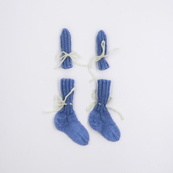 nogavice rokavice modra vel.20
