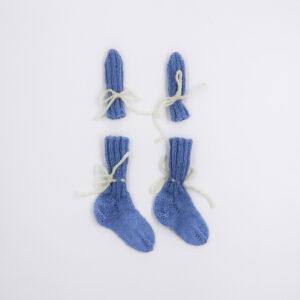 gloves socks blue 20