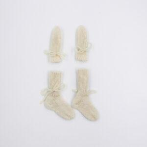Socks gloves white
